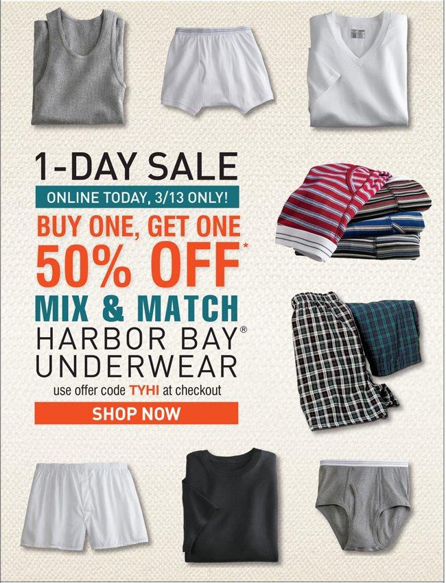 Shop the Harbor Bay Underwear Sale