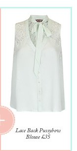 Lace Back Pussybow Blouse