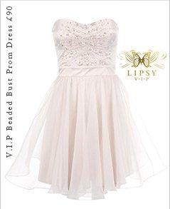 V.I.P Beaded Bust Prom Dress