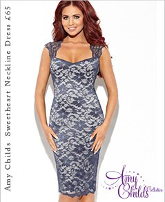 Amy Childs Millie Sweetheart Neckline Dress