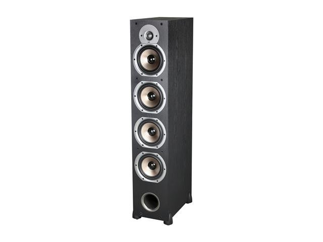 Polk Audio New Monitor 75T Four-Way Ported Floorstanding Loudspeaker - Black  (Each)