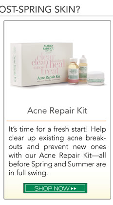 It's time for a fresh start! Help clear up existing acne breakouts and prevent new ones with our Acne Repair Kit – all before Spring and Summer are in full swing.