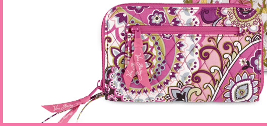 Zip-Around Wallet in Very Berry Paisley