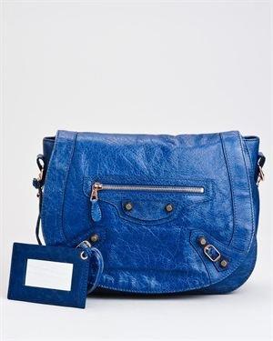 Balenciaga Paris Cobalt Bleu Neo Fold Giant 12 Shoulder Bag $999