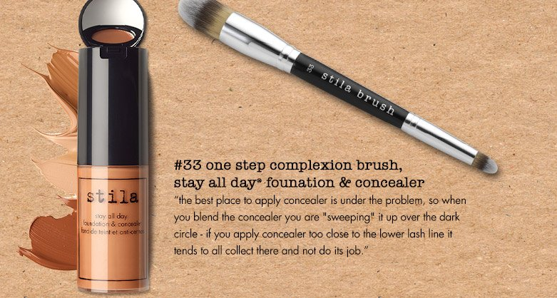 the best place to apply concealer is...