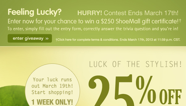 25% Off: Luck Of The Stylish!