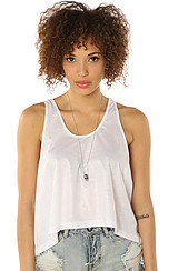 The Frankie Shiny Tank in White
