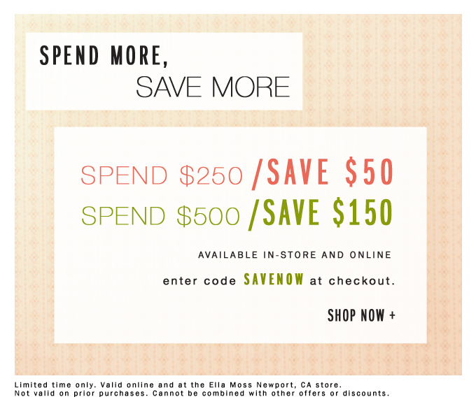 Your excuse to shop - spend more, save more