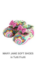 Mary Jane Soft Shoes in Tutti Frutti