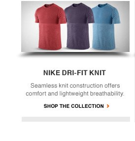 NIKE DRI-FIT KNIT | Seamless knit construction offers comfort and lightweight breathability. | SHOP THE COLLECTION