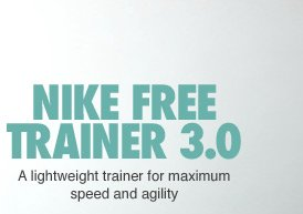 NIKE FREE TRAINER 3.0 | A lightweight trainer for maxium speed and agility