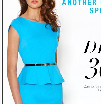 ALL Dresses are 30-50% Off through Thursday! Exclusively Online.