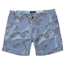 Paul Smith Shorts - Blue Desert Aviator Print Shorts