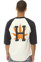 The H-Town Baseball Tee in Navy