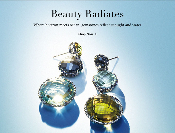 Beauty radiates. Where horizon meets ocean, gemstones reflect sunlight and water.