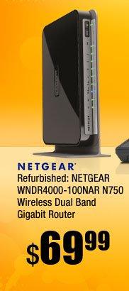 Refurbished: NETGEAR WNDR4000-100NAR N750 Wireless Dual Band Gigabit Router