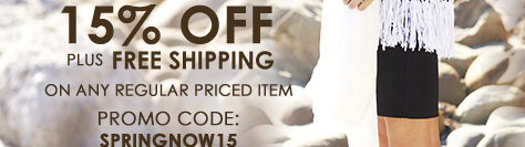 15% Off Plus Free Shipping