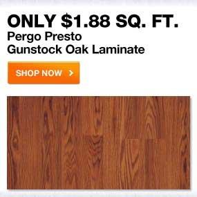 Pergo Presto Gunstock Oak Laminate