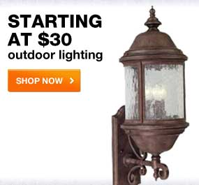 Starting at $30  outdoor lighting