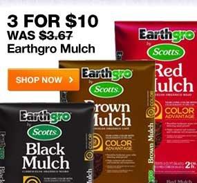 3 for $10 Eathgro Mulch