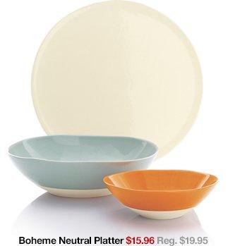 Boheme Neutral Platter $15.96 Reg. $19.95