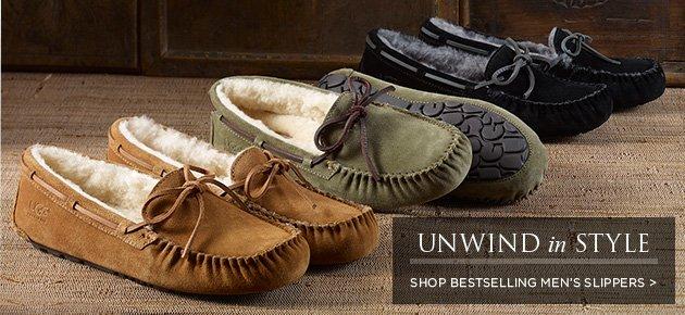 Unwind in style - Shop bestselling men's slippers >