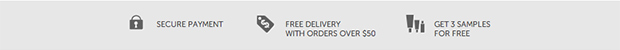 Secure Payment | Free Delivery with orders over $50 | Get 3 samples for free