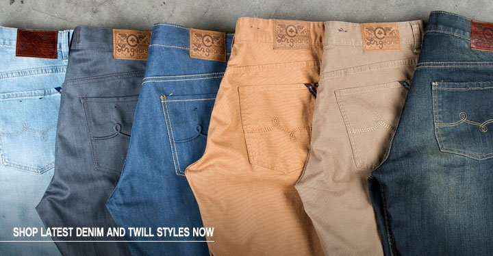 SHOP LATEST DENIM AND TWILL STYLES NOW