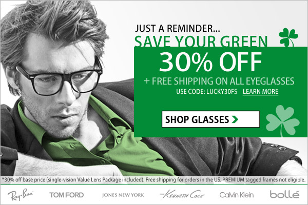 Save Your Green - 30% Off + Free Shipping!