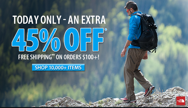 An extra 45% OFF over 10,000 items!