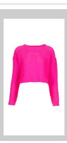 Knitted Tape Yarn Crop Jumper