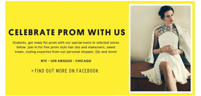 Celebrate Prom With Us - Find out more on Facebook
