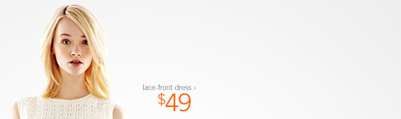lace–front dress › $49