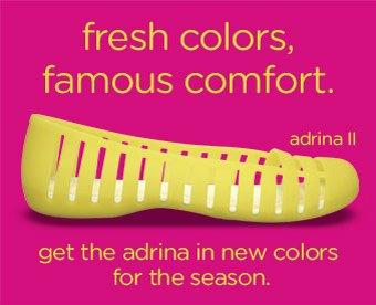 fresh colors. famous comfort.