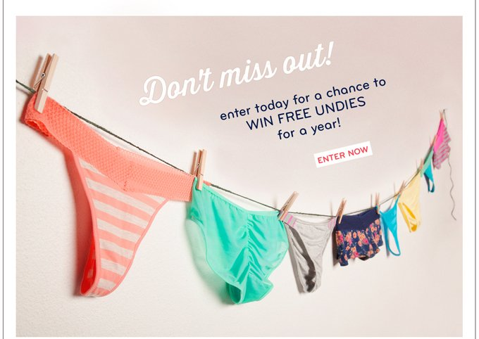 Last Chance! Win Splendid Undies for a Year.