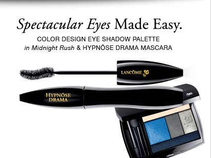 Spectacular Eyes Made Easy. | COLOR DESIGN EYE SHADOW PALETTE in Midnight Rush & HYPNOSE DRAMA MASCARA