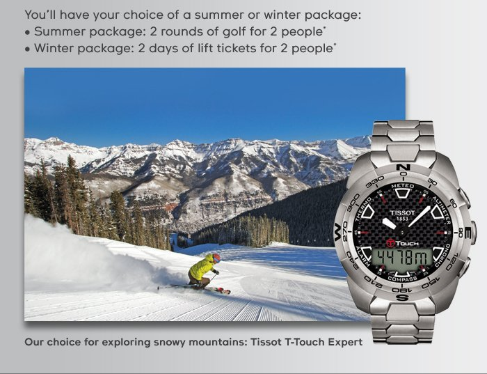 Our choice for exploring snowy mountains: Tissot T-Touch Expert