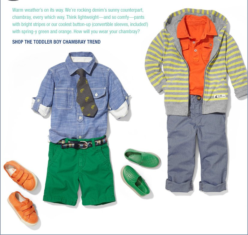 SHOP THE TODDLER BOY CHAMBRAY TREND