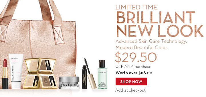 LIMITED TIME BRILLIANT NEW LOOK. Advanced Skin Care Technology. Modern Beautiful Color. $29.50 with ANY purchase. Worth over $118.00. SHOP NOW. Add at checkout.