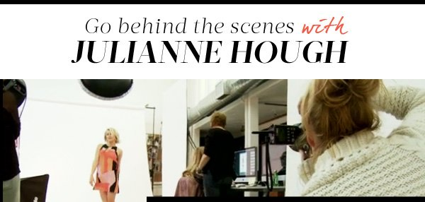 Go behind the scenes with Julianne Hough