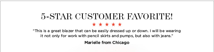 5 star customer favorite!