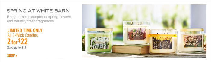 3–Wick Candles – 2 for $22
