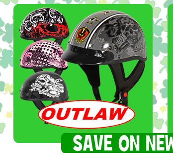 Save on NEW Outlaw Half Helmets