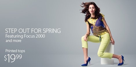 Step out for spring featuring Focus 2000 and more