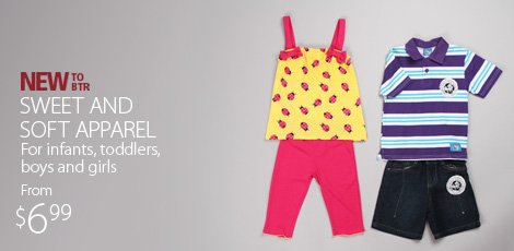 Sweet and Soft Apparel for Infants, Toddlers, boys and girls