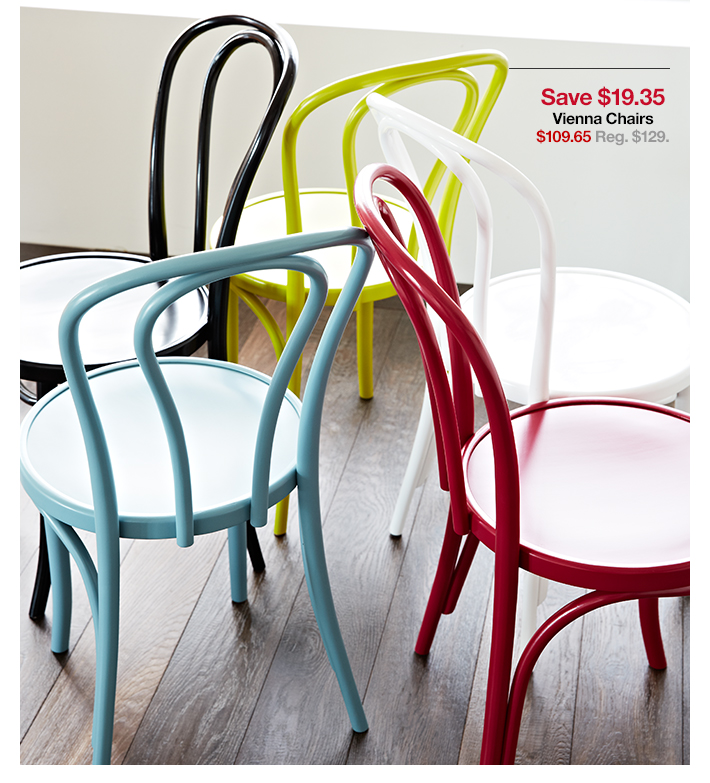 Save $19.35 Vienna Chairs $109.65 Reg.  $129.