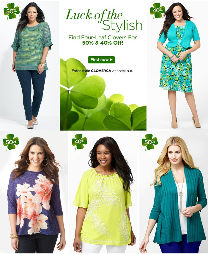 Find Four - Leaf Clovers For 50% & 40% Off!
