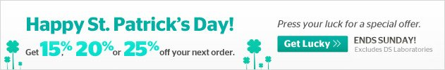 St. Patricks Day Lucky Offer - Up to 25% off