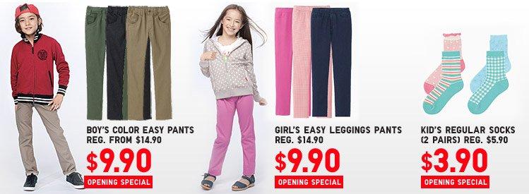 BOY'S PANTS, GIRL'S PANTS, KIDS SOCKS