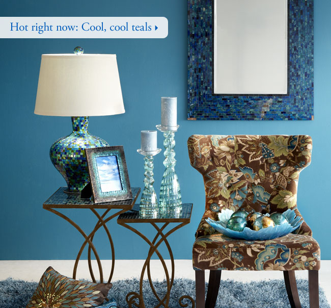 Hot right now: Cool, cool teals